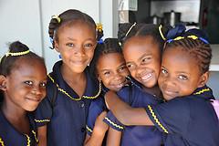 caribbean school children