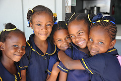 caribbean school children