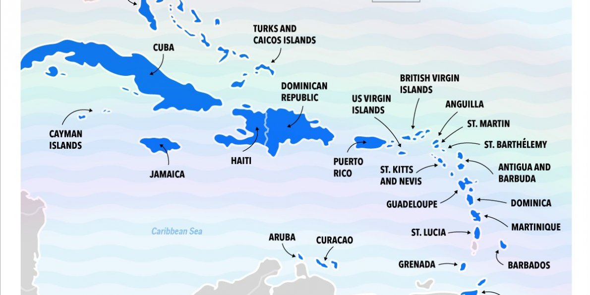 Map Of The Caribbean Islands this map shows our ranking of the best caribbean islands  Map Of The Caribbean Islands